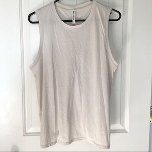 Fabletics Light Grey Ruched Open Back Top